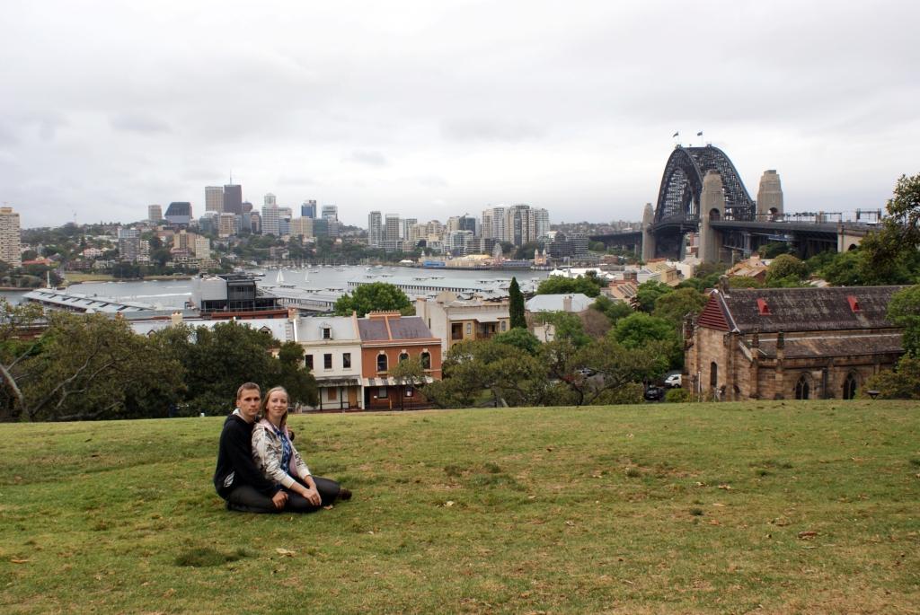 Сидней, Обсерваторский холм (Observatory Hill). Вид на знаменитый мост Harbour Bridge